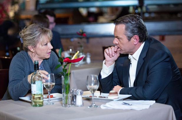 EastEnders, Carol and David have dinner, Tue 17 Dec