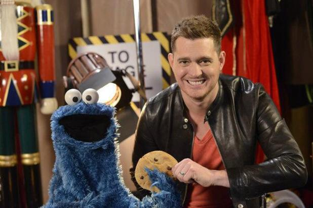 Michael Buble meets the Cookie Monster for his Christmas special American TV show - 17 Dec 2013