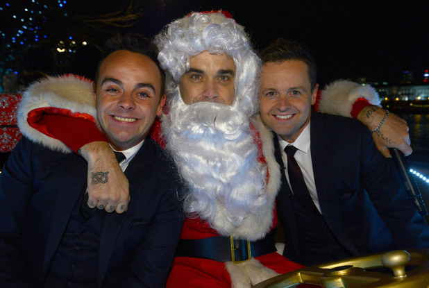 Ant & Dec are joined by Robbie Williams to kick off ITV's Text Santa fundraising appeal.
