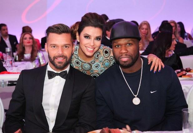 Eva Longoria hosts her first global gift gala in Dubai, United Arab Emirates - 14 Dec 2013 Ricky Martin, 50 Cent