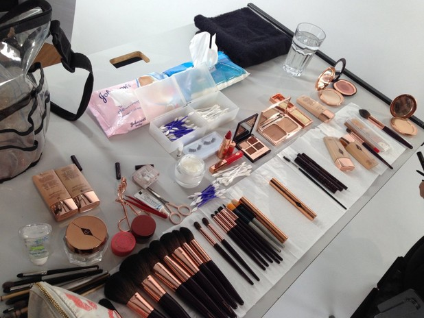 The make-up used on Millie Manderson for her 'The Bombshell' makeover with Charlotte Tilbury, 18 December 2013