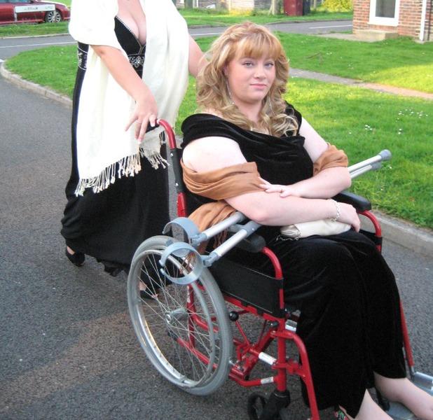 Hannah was in a wheelchair - but can now walk again