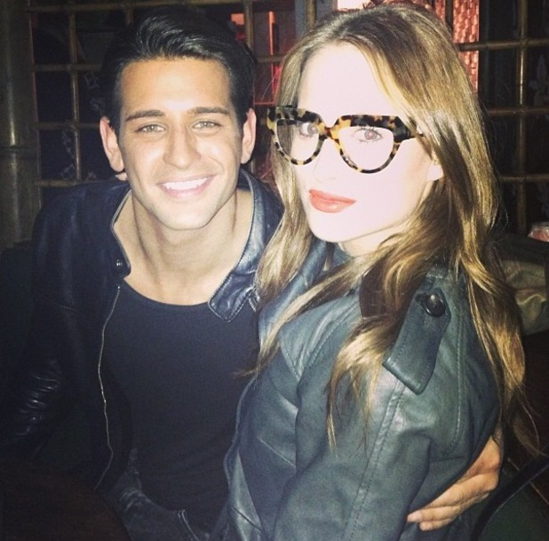 Ollie Locke and Rosie Fortescue at Christmas party with Made In Chelsea stars - 16.12.2013