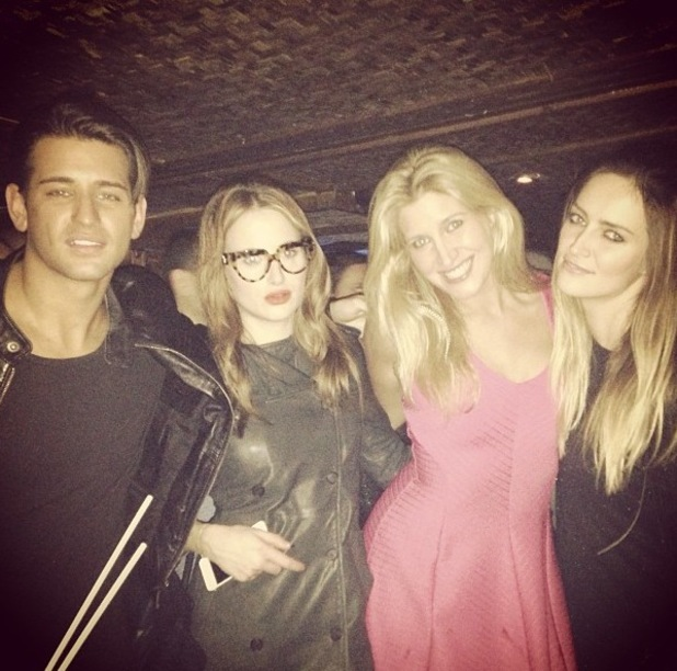 Ollie Locke, Cheska Hull and Rosie Fortescue at Christmas party with Made In Chelsea stars - 16.12.2013
