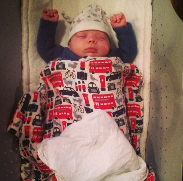 Cherry Healey shares new picture of baby son Edward Bear - 19 December 2013