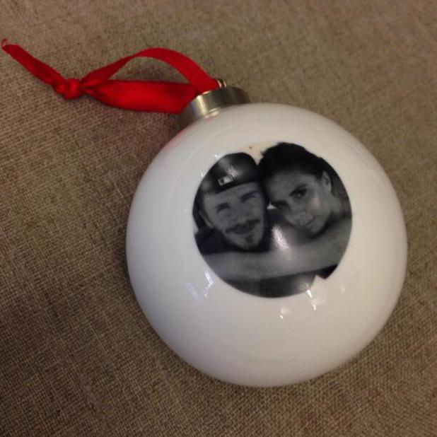 Victoria Beckham shares personalised Christmas bauble. (19 December).