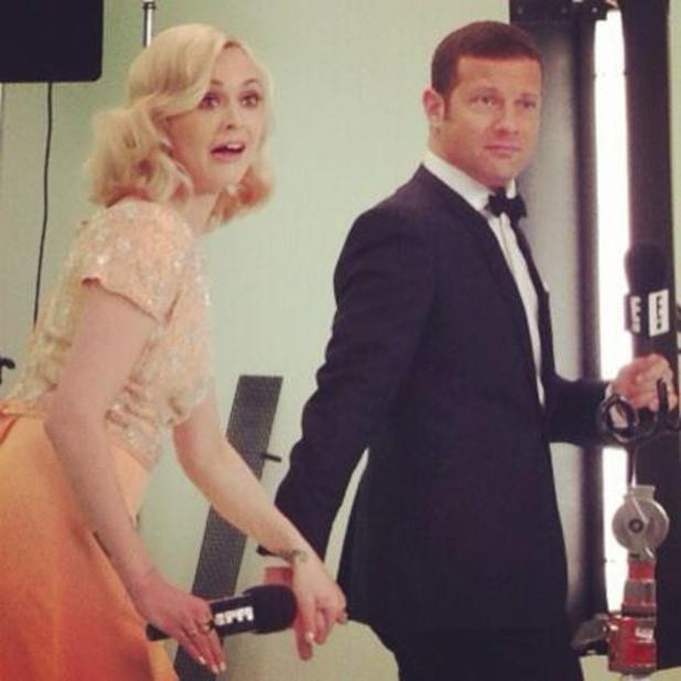 Fearne Cotton and Dermot O'Leary film together ahead of the BAFTAs 2014 - 18 December 2013