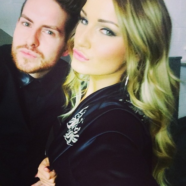 TOWIE's Sam Faiers poses in black robe during photoshoot - 17 December 2013