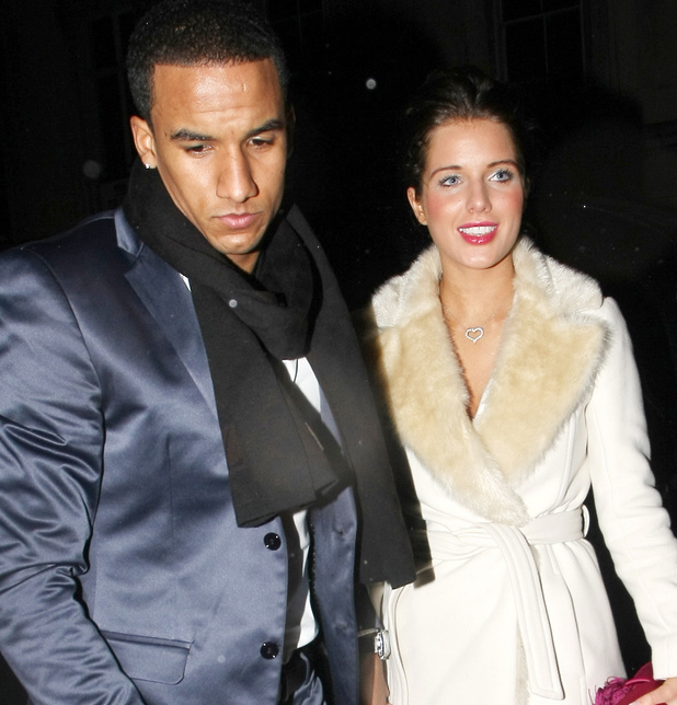 Helen Flanagan and boyfriend Scott Sinclair leave the May Fair hotel London, England - 13.02.11