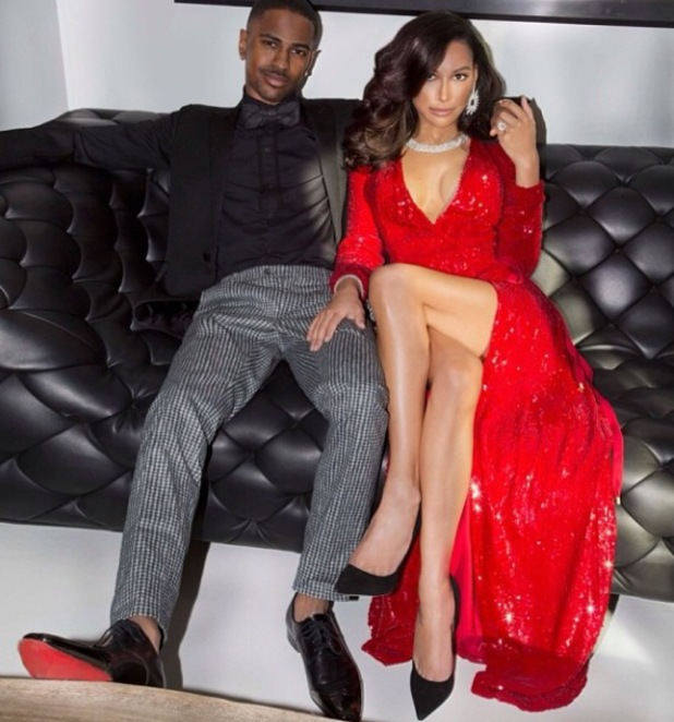 Naya Rivera and Big Sean shoot Christmas card - December 2013