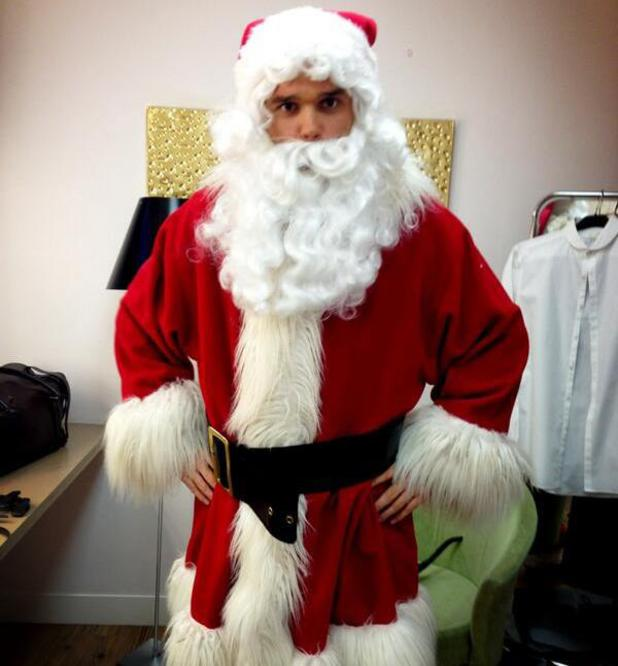Gareth Gates dresses up as Santa for This Morning appearance - 17 Dec 2013