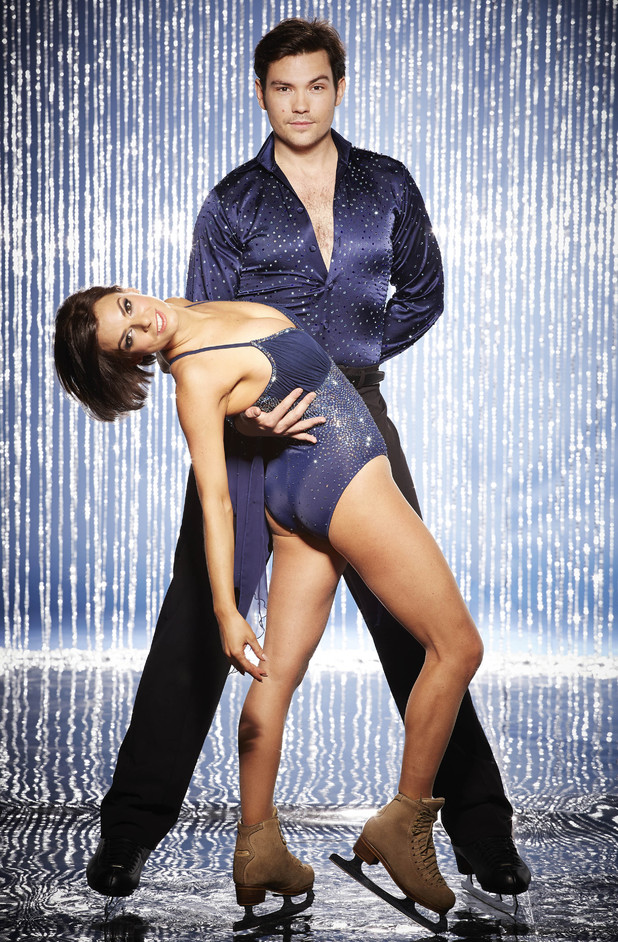 Dancing On Ice 2014: Sam Attwater and fiancée Vicky Ogden (previously Brianne Delcourt)
