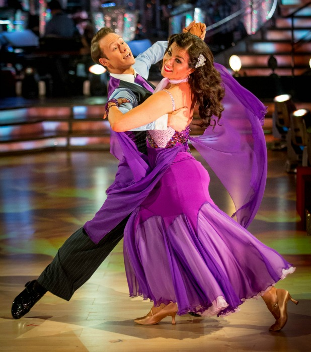 Kevin Clifton, Susanna Reid on Strictly Come Dancing 2013 final, 21 December 2013