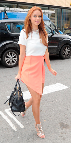 Una Foden wearing a Finders Keepers skirt on 7 October 2013