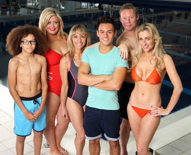 SPLASH 2014 Saturday 4th January 2014 on ITVPerri Kiely, Gemma Collins, Michaela Strachan, Tom Daly, Ricky Groves and Gemma Merna