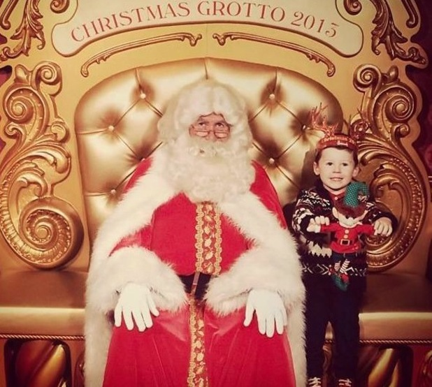 Coleen and Wayne Rooney's son Kai meets Father Christmas for a second time - 23 December 2013