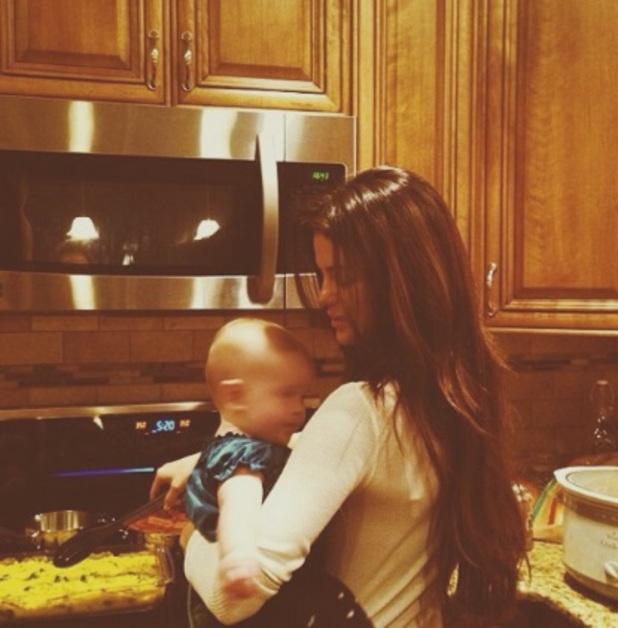 Selena Gomez and sister Gracie on Christmas Eve, 24 December 2013