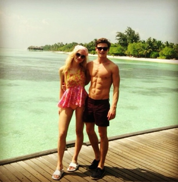 Pixie Lott enjoys holiday in Maldives with Oliver Cheshire - 23 December 2013