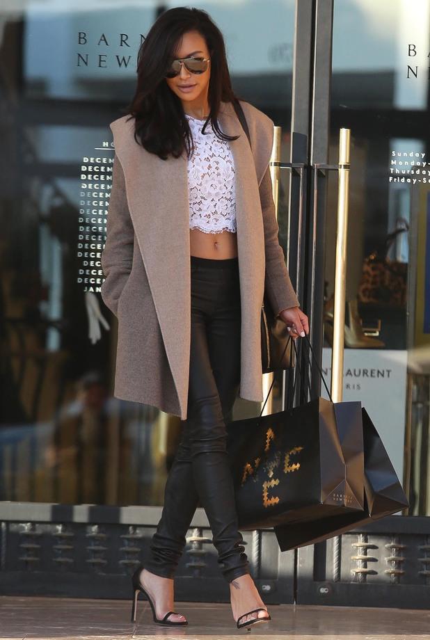 Glee's Naya Rivera at Barneys in Los Angeles - 22 December 2013