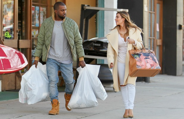 Kim Kardashian and Kanye West shop at Sport Store in Los Angeles, 26 December 2013
