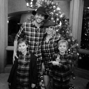 Britney Spears and boyfriend Charlie Ebersol with her sons on Christmas Day, December 2014