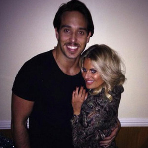 Danielle Armstrong shows off her new short hair while cuddling Lockie, 24 December 2014