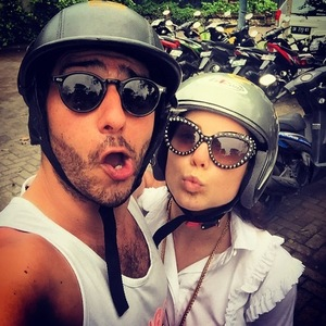 Louise Thompson and Alik Alfus in Bali 28 December