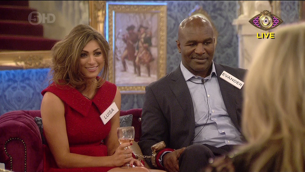 Evander Holyfield and Luisa Zissman take part in Celebrity Big Brother 2014 - Launch. 3 January 2013.