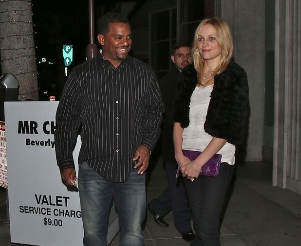 Alfonso Ribeiro arrives at Mr Chow with Angela Unkrich, his wife - 2.1.2014