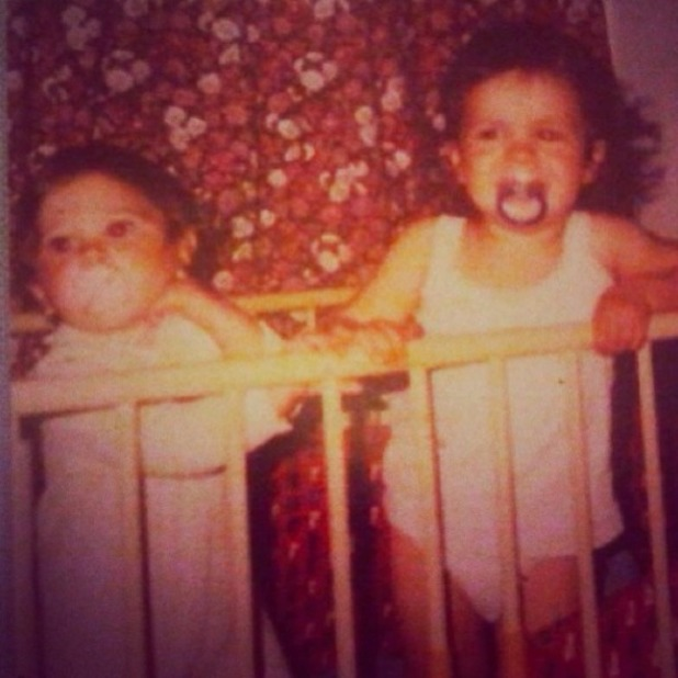Tulisa posts nostalgic picture of her and cousin Dappy on Twitter on Instagram, 4 January 2014