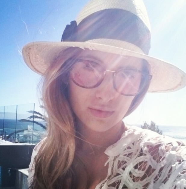 Rosie Fortescue takes a selfie on holiday in Cape Town, December 2014.