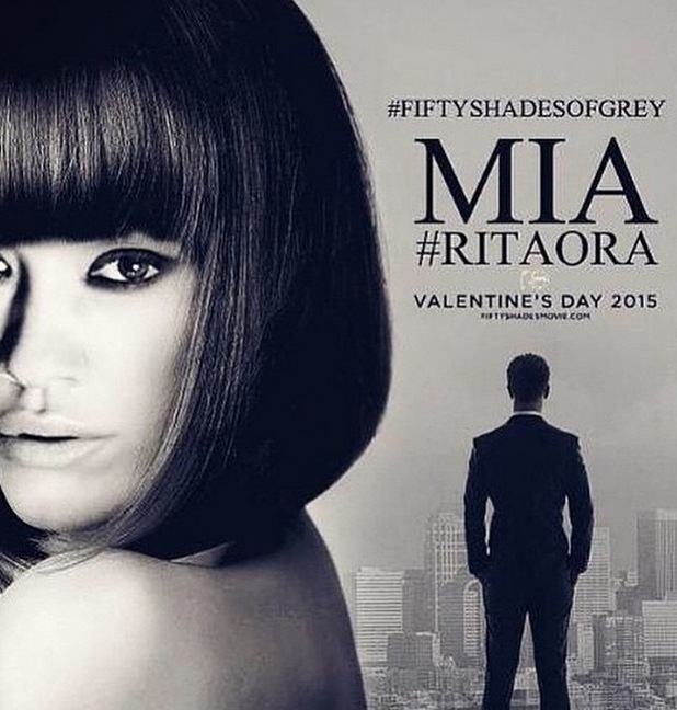 Rita Ora as Mia Grey in Fifty Shades of Grey Poster, December 2014
