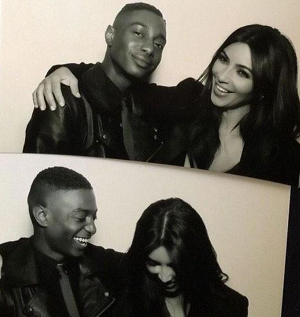 Kim Kardashian smiles in photos from mum Kris Jenner's annual Christmas Eve party, 24 December 2014