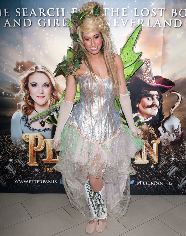Stacey Solomon at Peter Pan: The Never Ending Story - VIP night held at the Wembley Arena - Arrivals - 2 January 2014