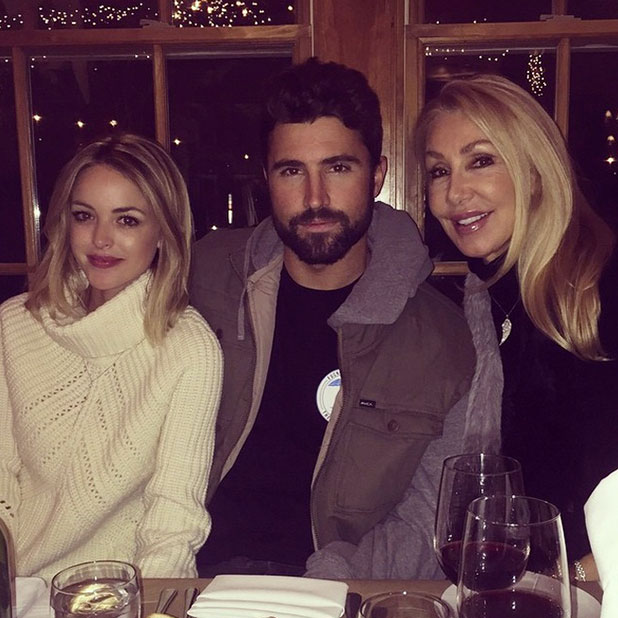 Brody Jenner and Kaitlynn Carter celebrate Christmas together with Brody's mum Linda Thompson, 25 December 2014