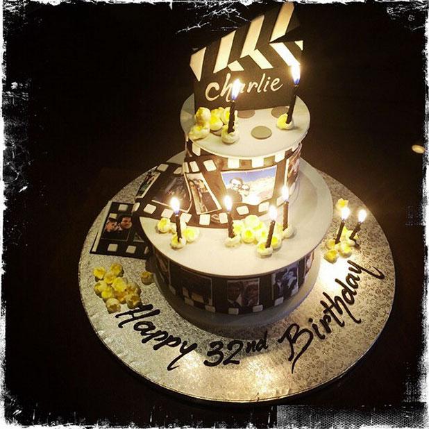 Britney Spears treats boyfriend Charlie Ebersol to birthday cake, 30 December 2014