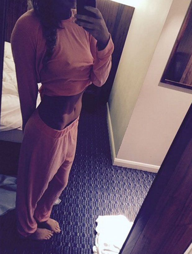 Charlotte Crosby shows off weight loss posing in her pyjamas, 30 December 2014