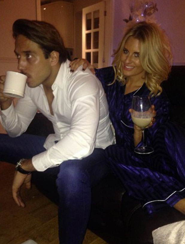 Danielle Armstrong shows off her new short hair while cuddling Lockie, 25 December 2014