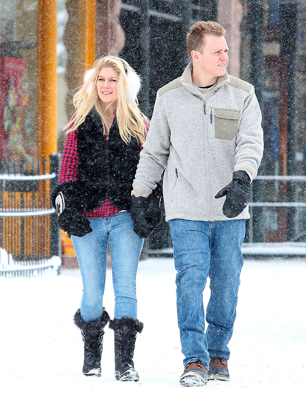 Heidi Montag and Spencer Pratt out and about in Aspen, Colorado, America - 28 Dec 2014