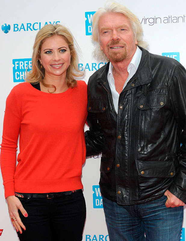 Holly and Richard Branson at We Day UK, a charity event to bring young people together at Wembley Arena, March 2014