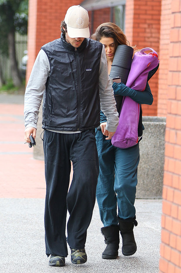 Nikki Reed and Ian Somerhalder go to a yoga class in Studio City, 30 December 2014