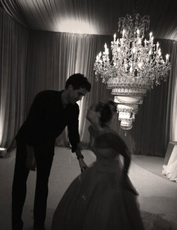 Kaley Cuoco and Ryan Sweeting's wedding day, 31 December 2013