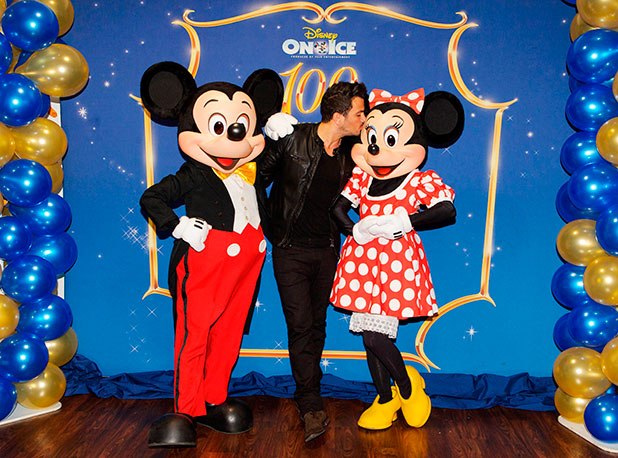 Disney On Ice celebrates 100 Years of Magic at the O2, London, Britain - 29 Dec 2014 Peter Andre meets Mickey Mouse and Minnie Mouse
