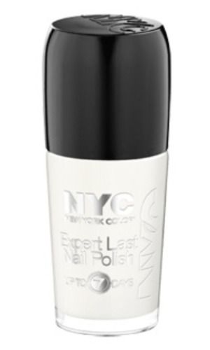 NYC Expert Last Nail Polish in Pinstripe White