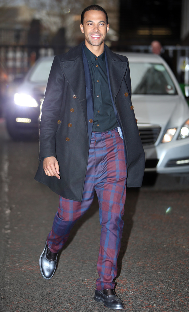 Marvin Humes outside itv studios - 7.1.2014