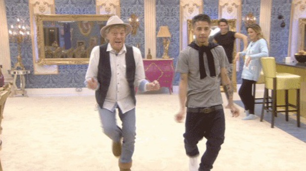 CBB's Dappy and Lionel Blair dance together - 7 January 2013