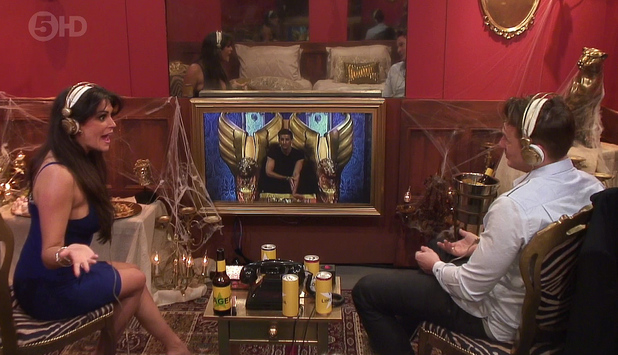 Channel 5's Celebrity Big Brother housemates - January 2014 Lee Ryan and Casey Batchelor in the Bolt Hole