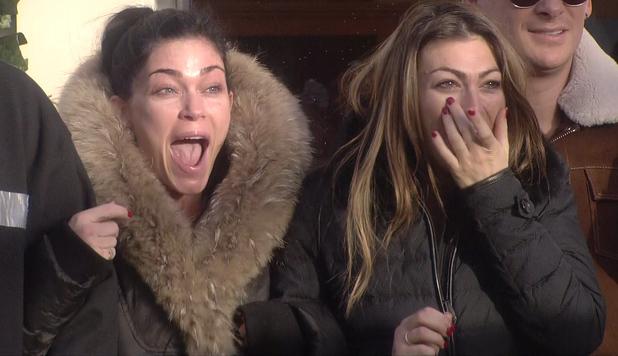 Channel 5's Celebrity Big Brother housemates - January 2014 Luisa Zissman and Jasmine Waltz in the garden.
