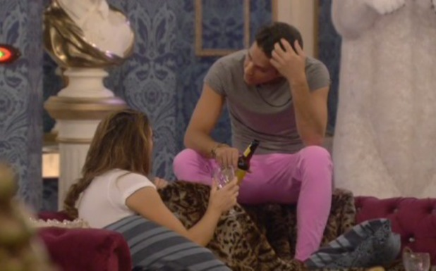 Ollie Locke and Luisa Zissman discuss Ollie's feelings for Sam Faiers in the Celebrity Big Brother house - 9.1.2014