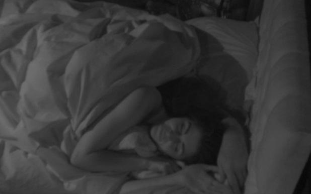 'Celebrity Big Brother' TV show, Elstree Studios, Hertfordshire, Britain - 05 Jan 2014 Lee Ryan cuddles up to Casey Batchelor in bed.